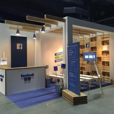 Stand y decorados para evento de Facebook en Madrid, París y Lyon