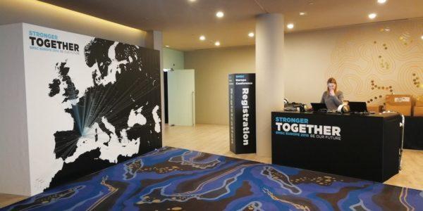 Espacio de recepción y catering para BMSC Conference 2018 del grupo Marriott